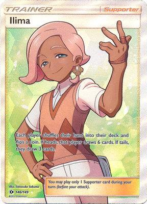 Ilima Full Art - Ultra Zeldzame Pokémon kaart