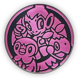Pokemon Sinnoh Region Starters Collectible Coin (Pink Matte Holofoil)