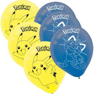 Pokémon Feest Ballonnen — Pikachu & Meowth 6 stuks