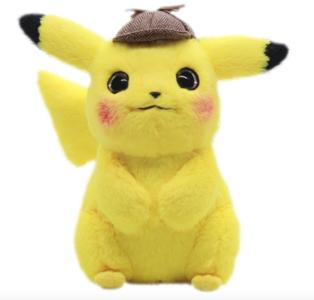 Detective Pikachu XL - 28cm Pokémon Knuffel