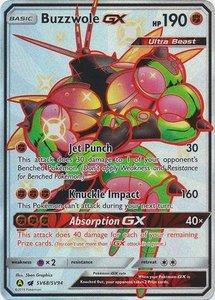 Buzzwole [SHINY GX] Full Art Ultra Rare Pokemon Kaart