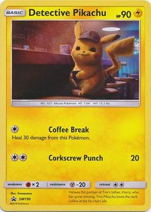 Detective Pikachu - Holo Rare - Detective Pikachu Series