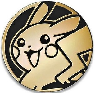 Pokemon Pikachu Sun & Moon Collectible Coin (Gold)