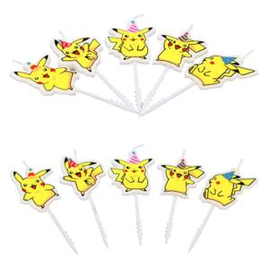Pikachu Verjaardagskaarsen — Multipack 5 stuks