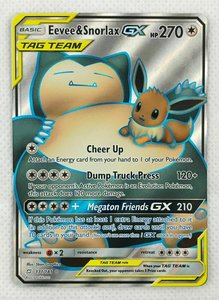 Eevee Snorlax GX Full Art (TAG TEAM)
