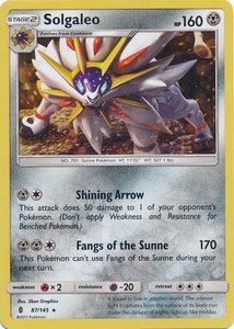 Solgaleo Shattered Holo (Theme deck exclusive)