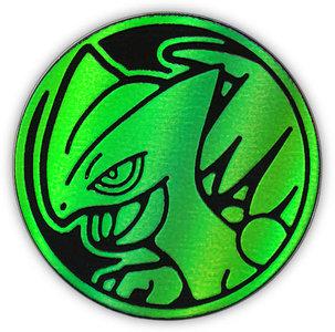 Pokemon Sceptile Collectible Coin (Green Rainbow Mirror Holofoil)