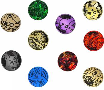 2 Willekeurige Pokemon Collectible Coins