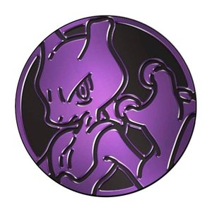 Pokemon Mewtwo Collectible Coin (Purple Mirror Holofoil)