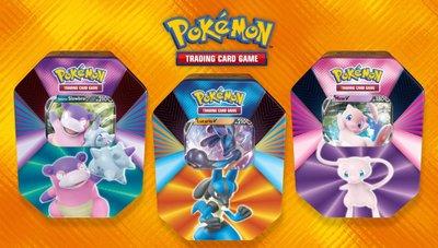 Pokémon V Force Tin Lucario Slowbro Mew - Pokémon Kaarten