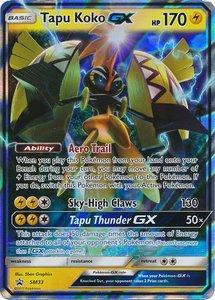 Tapu Koko GX Pokemon kaart