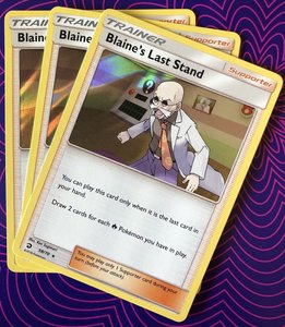 Blaine's Last Stand - 58/70 - Holo Rare