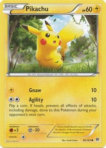 Pikachu - 48/162 - Common Reverse Holo