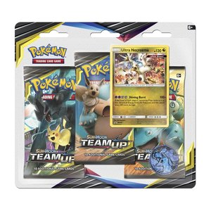 Pokémon Sun & Moon Team Up - 3 Booster Packs, Munt & Ultra Necrozma kaart