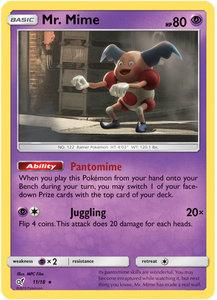 Mr. Mime - 11/18 - Holo Rare - Detective Pikachu Series