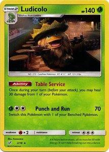 Ludicolo - 2/18 - Holo Rare - Detective Pikachu Series